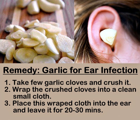 Garlic in ears