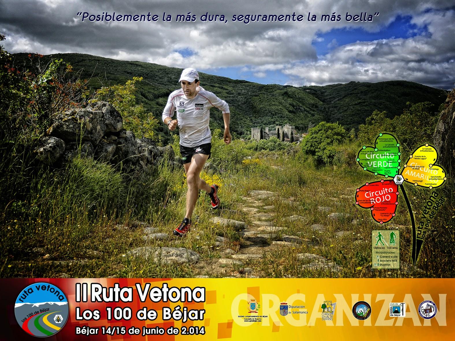 Cartel Anunciador de la II edicion de la ruta vetona con Miguel Heras corriendo