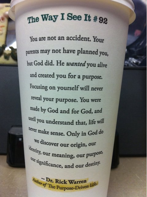 quotes about life and god. Starbucks Cups Quotes - Life Quotes - Trust In God