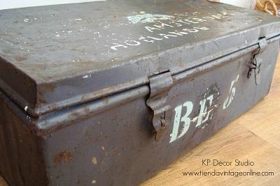 Comprar maleta baúl vintage militar estilo industrial