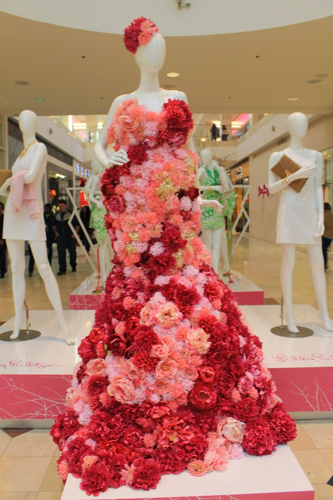 dress made of flowers lilly pulitzer lunch at lilly bethesda