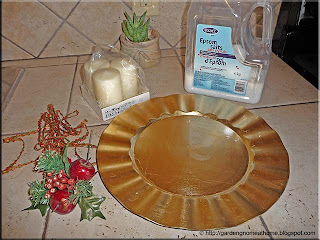 materials for decorative candle centerpiece