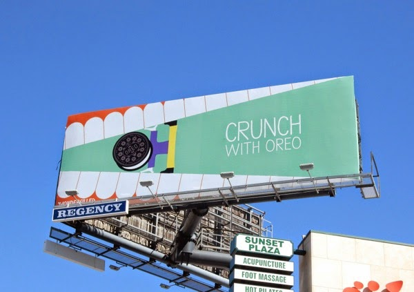 Crunch with Oreo billboard