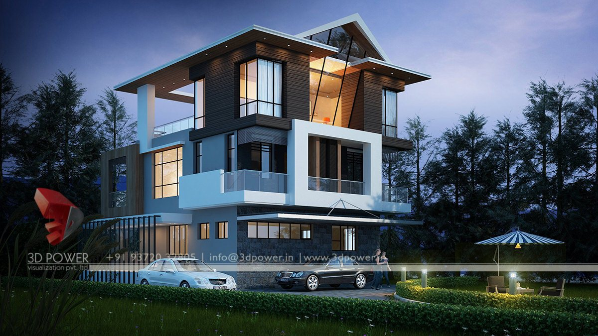 Ultra modern home designs for Modern bungalow elevation