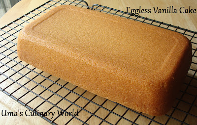 eggless Sour Cream cake