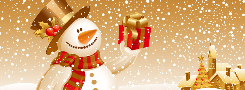 christmas gift banners for facebook cover