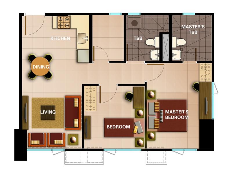 Avida towers intima for 80m2 apartment design