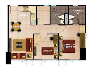 Avida Towers Intima Two Bedroom Unit Plan