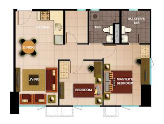 Avida Towers Intima Two Bedroom Unit Plan