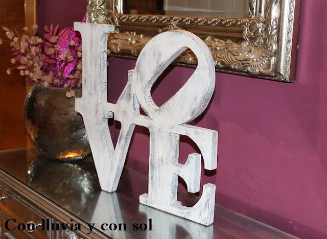 Decoracion Letras Love ~ LETRAS LOVE DE MADERA CON EFECTO ENVEJECIDO