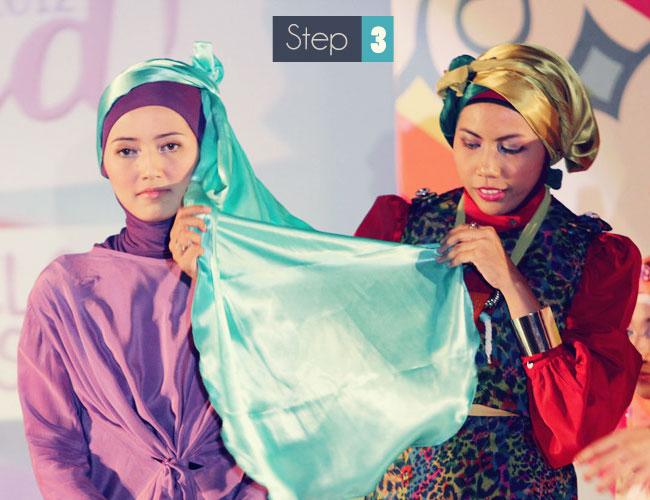 cara memakai jilbab untuk pesta pernikahan