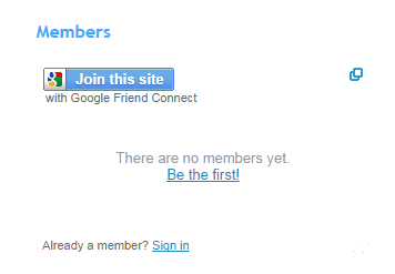 How to add Join this site gadget in blogger