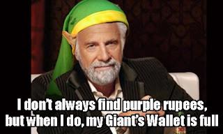 zelda purple rupee full wallet Morning LOL   Rupee Drama In Zelda Games