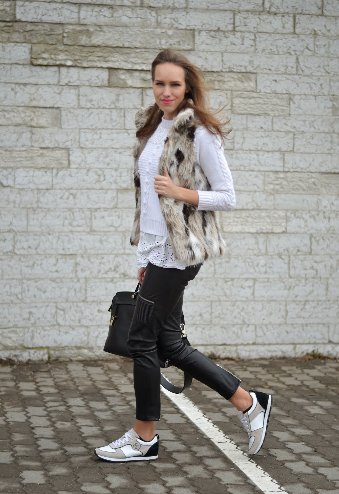 armani-white-sneakers-zara-black-leather-pants-casual-outfit kristjaana mere
