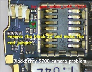 explain about how to repair the Blackberry 9700 storm camera problem