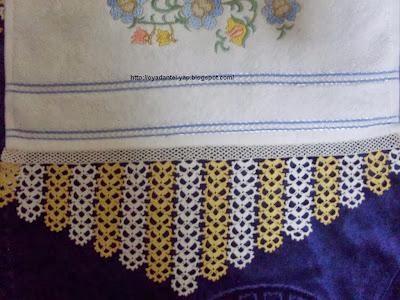 havlu kenarı örnekleri resimli, halkalı havlu kenarı örnekleri