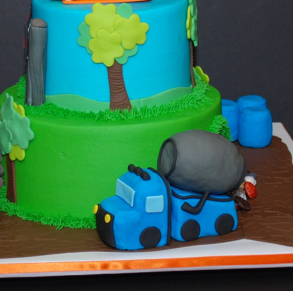 The Bakery Next Door Construction Theme Birthday Cake