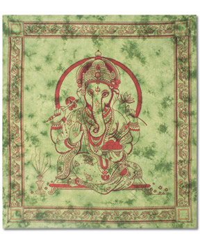 ganesh+tapestry - Elephant Charms: Love & Protect