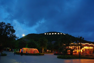Vinpearl lit at night