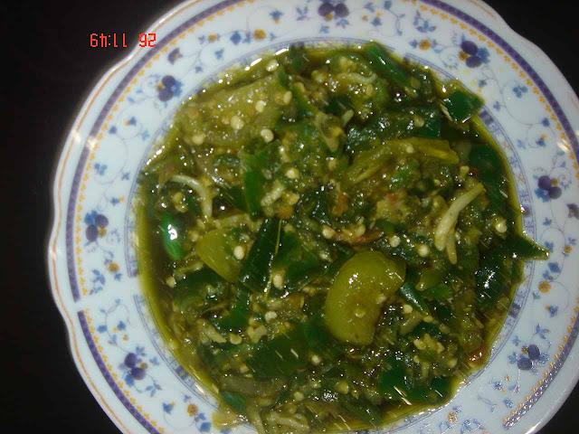 Tipscarabuat.blogspot.com - SAMBAL CABAI HIJAU PADANG