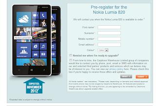 Nokia Lumia 820 pre-orders