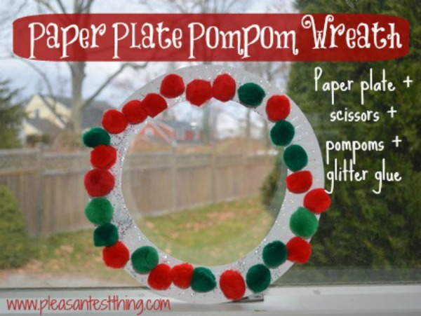 Easy Paper Plate Wreaths & Paper Plate Wreaths
