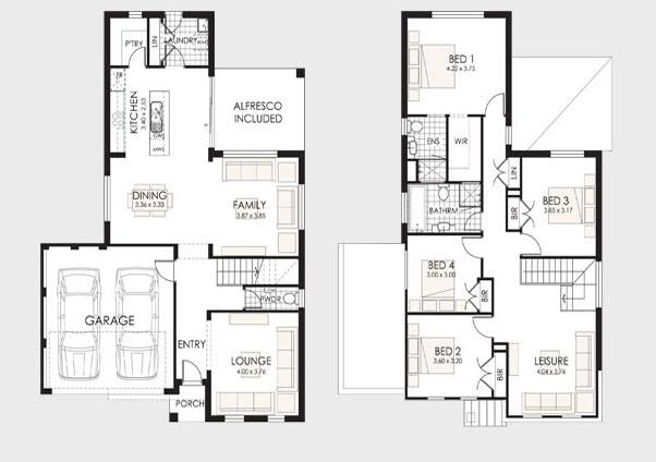 Planos de casas de dos pisos construye hogar for Modelos de casas de dos pisos y sus planos