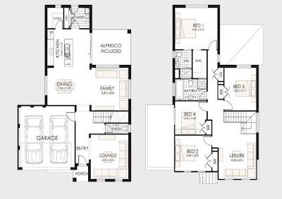 diseo de casa de dos pisos con techos a cuatro aguas