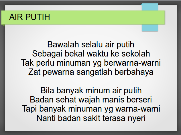 Air Putih - Download Lagu Anak Indonesia
