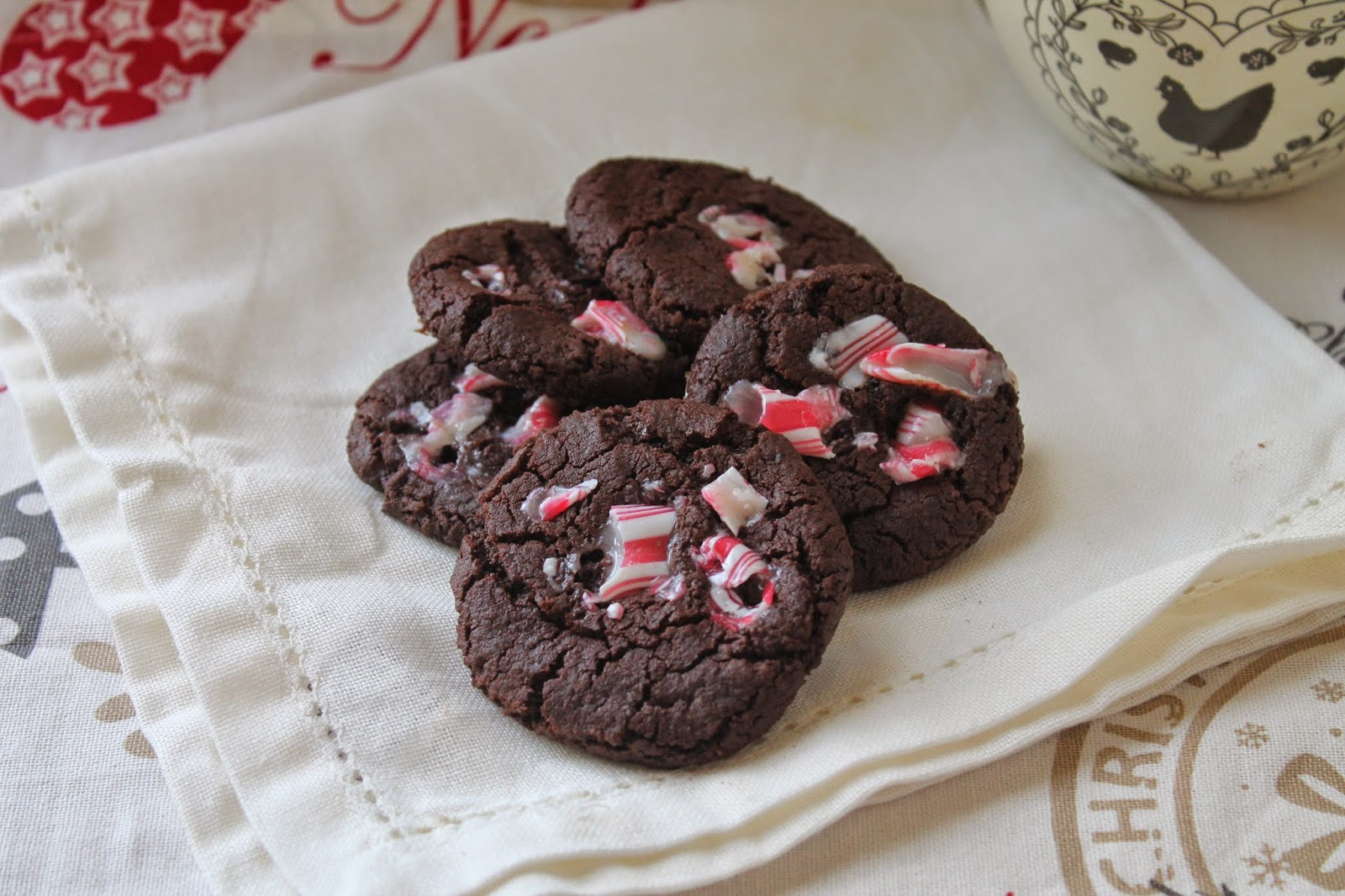 #christmasfood - chocolate candy cane cookies