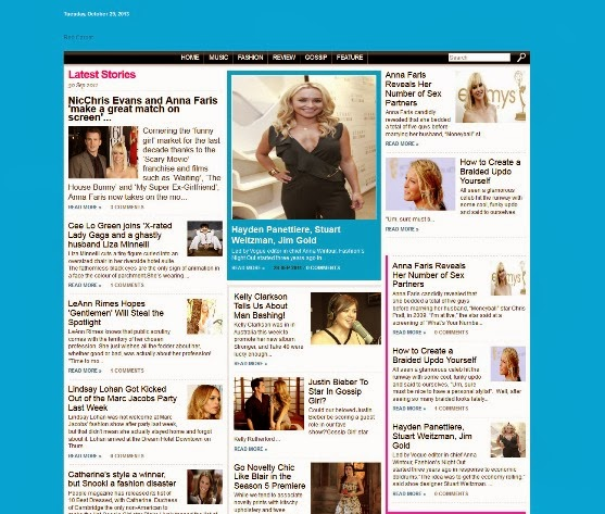 Red Carpet Blogger Template