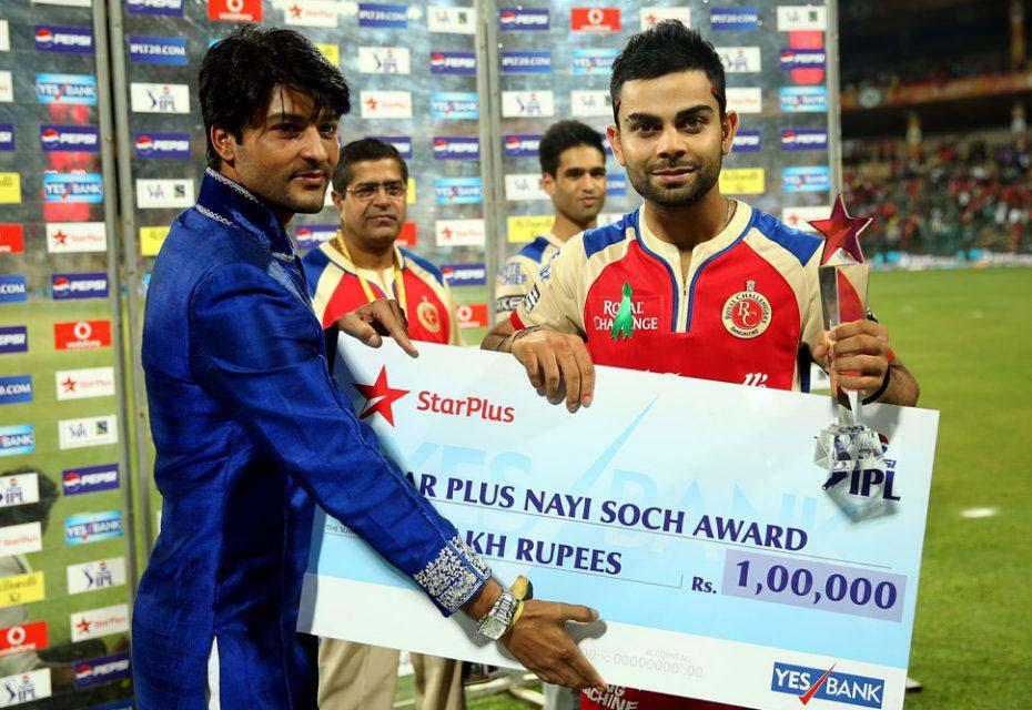 Virat-Kohli-nayi-soch-award-RCB-vs-CSK-IPL-2013