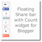 Add Floating Share bar with Count widget in Blogger