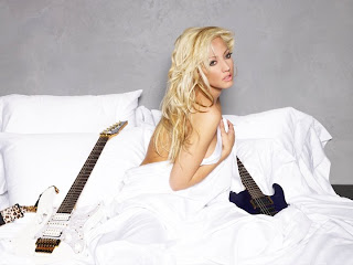 hot, sexy nita strauss, naked, strips, white, hot, boobs, breast, cleavage, slips, blonde, bombshell, sex, video, in the bed