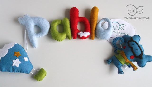 Nombre decorativo para bebé