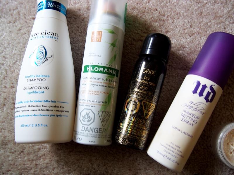 shampoo and dry shampoo