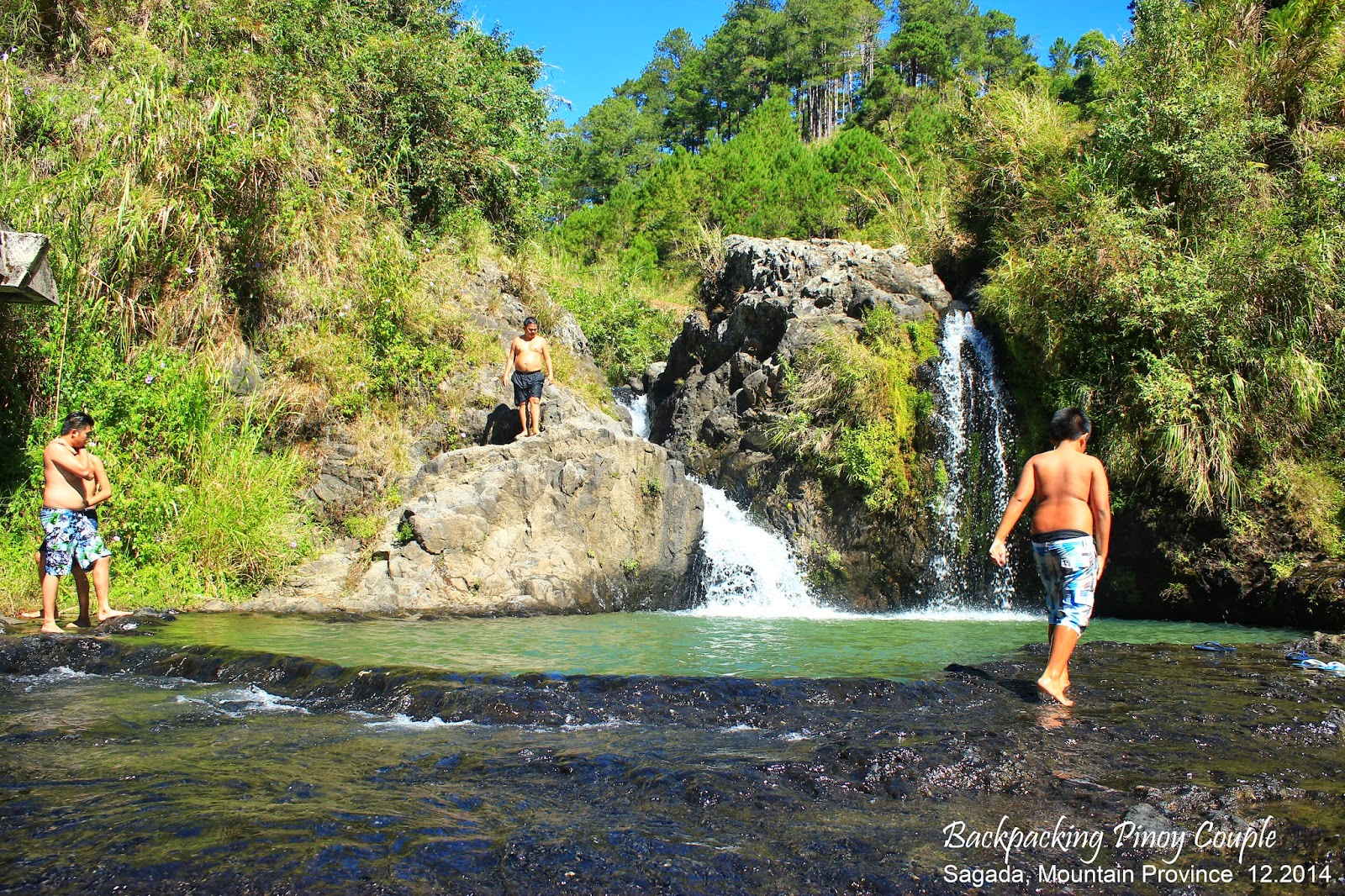 Backpacking Pinoy Couple, Sagada, Mountain Province, Philippines, Bokong Falls
