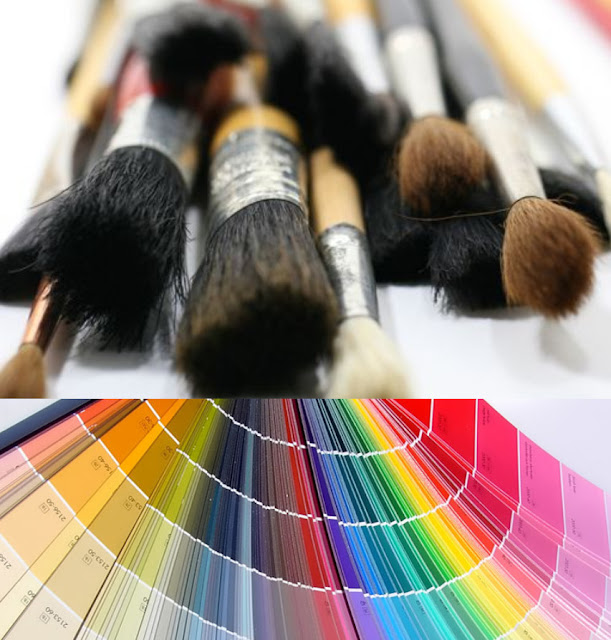french paints and brushes