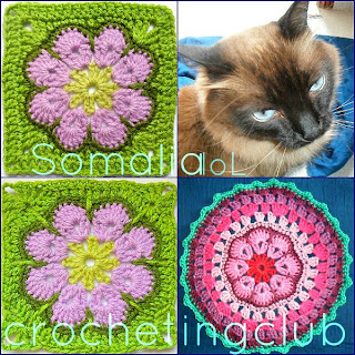 how to crochet granny square somalia african flower #320