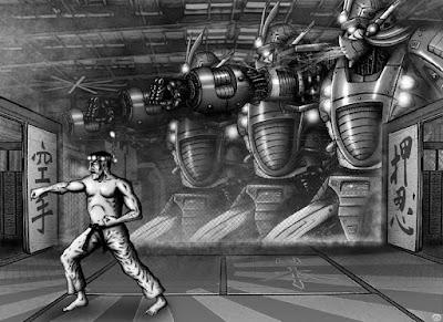 """""""Karatech"""", illustrazione di Giorgio Borroni per gli interni di Altrisogni n.7"""