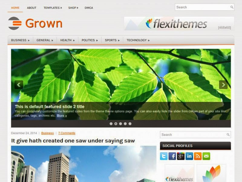 Grown - Free Wordpress Theme