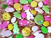 ¡Aquí están mis galletas de Pascua! Más vale tarde que nunca. galletas de pascua