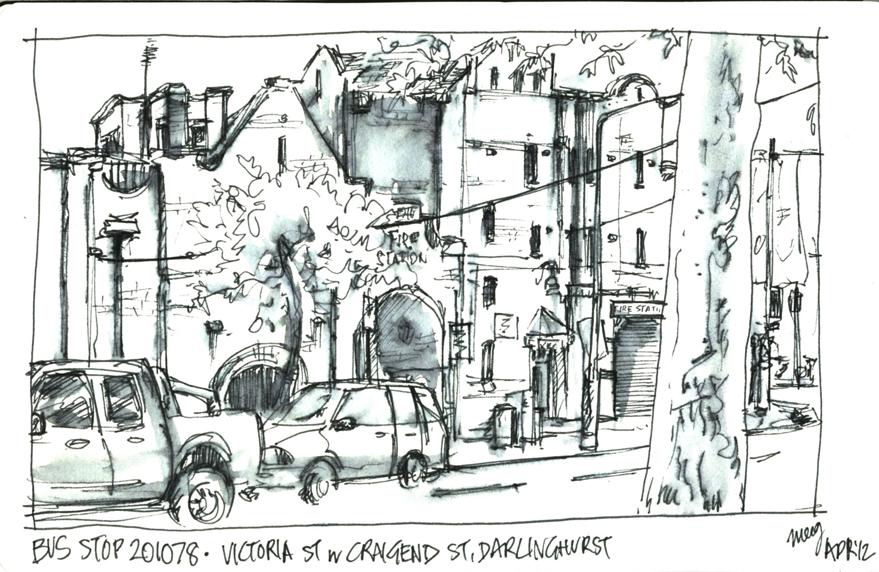 Urban Sketchers Australia Bus Stops In April
