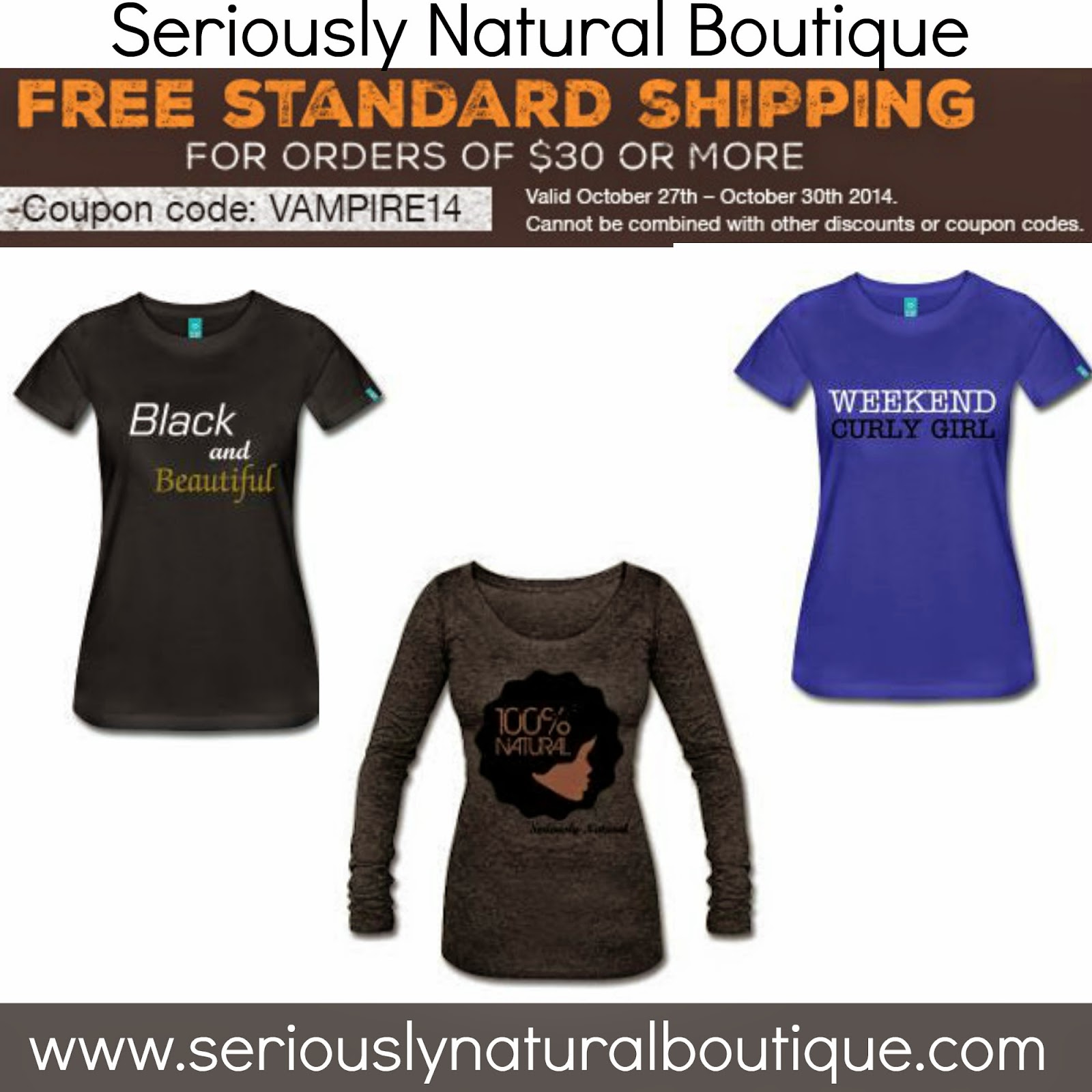 FREE SHIPPING at Seriously Natural Boutique