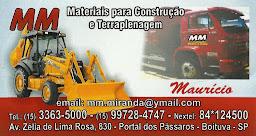 M&M MATERIAIS PARA CONSTRUÇÃO E TERRAPLENAGEM