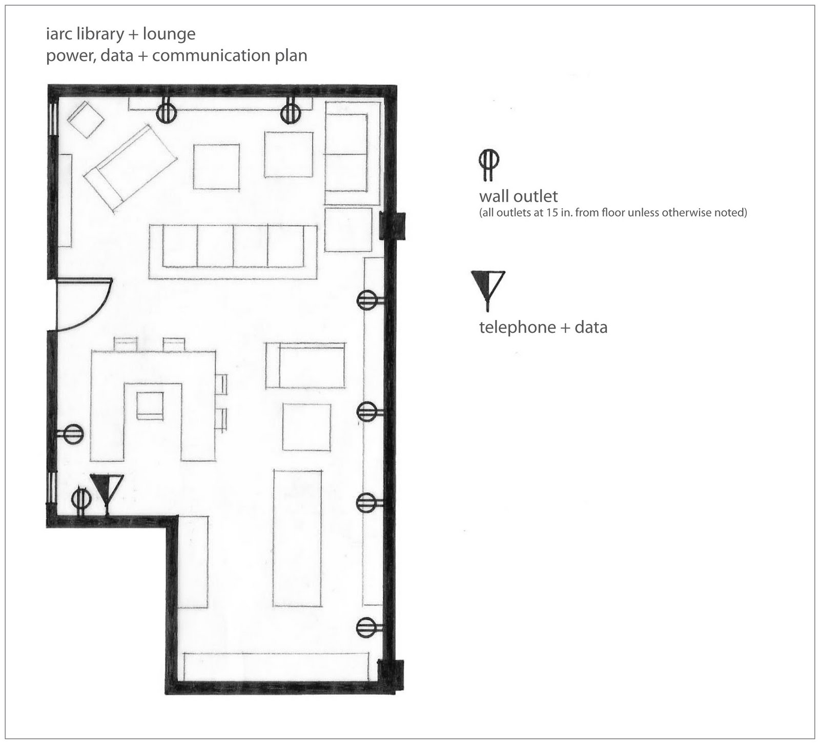 Interior Lighting Design Iarc Library Lounge Plans
