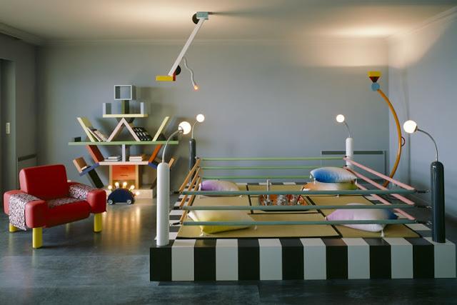 Karl Lagerfeld und Memphis - Einrichten mit innovativen, farbigen Möbel, Leuchten und Accessoires. Leben in einem modernen Design Museum?