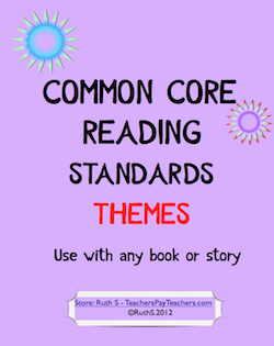 photo of Common Core Reading Themes TeachersPayTeachers.com