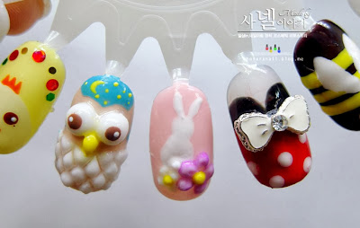 cute animal nail art
