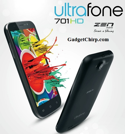 Zen Ultrafone 701 HD : Full Specs and Features